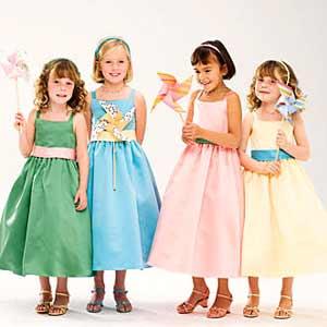 Нарядные свадебные платья для девочек