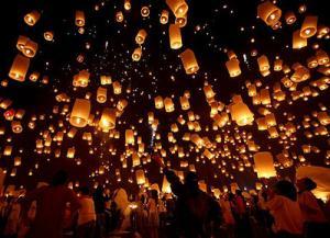 Небесные китайские фонарики