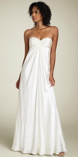 Свадебное платье с воротником медичи