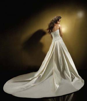 Жених наступил на платье
