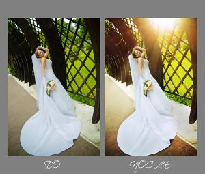 обработка свадебных фотографий