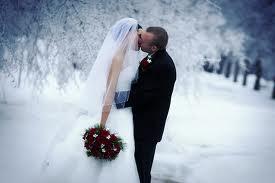 Зимняя свадьба без снега фото