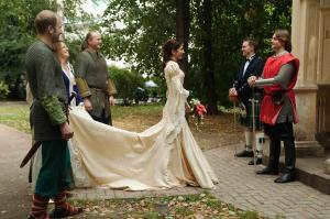 Нетрадиционных свадебное платье