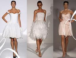 Очень короткие свадебные платья