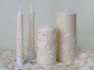 Свадебные свечи на стол молодым
