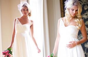 Свадебный образ беременной невесты