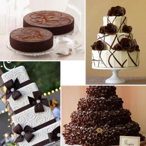 Шоколадный свадебный стиль