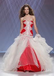 Платье невесты с ярким акцентом