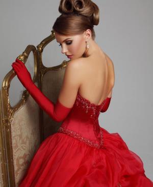Цветное свадебное платье фото